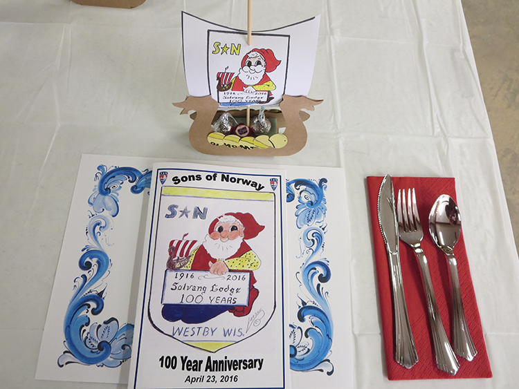 Photo: David Torgerson The colorful place settings at the banquet welcomed guests to the celebration.