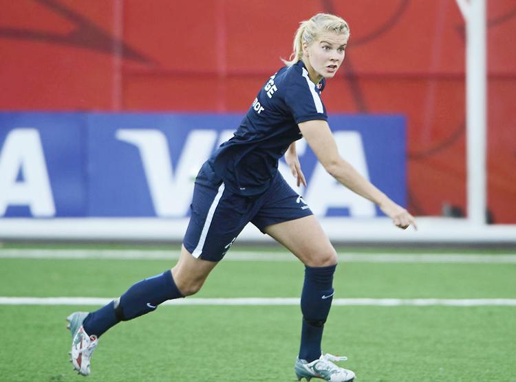 Photo: Jostein Magnussen / VG Ada Hegerberg in training in Ottawa in 2015.
