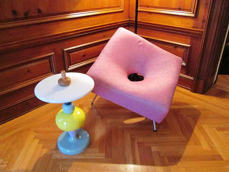 Photo: Christine Foster Meloni Two unusual pieces of furniture that caught Meloni's eye.
