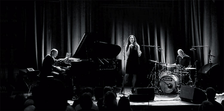 Photo courtesy of ECM Records USA Tord Gustavsen, Simin Tander, and Jarle Vespestad will perform around the U.S. and Canada.