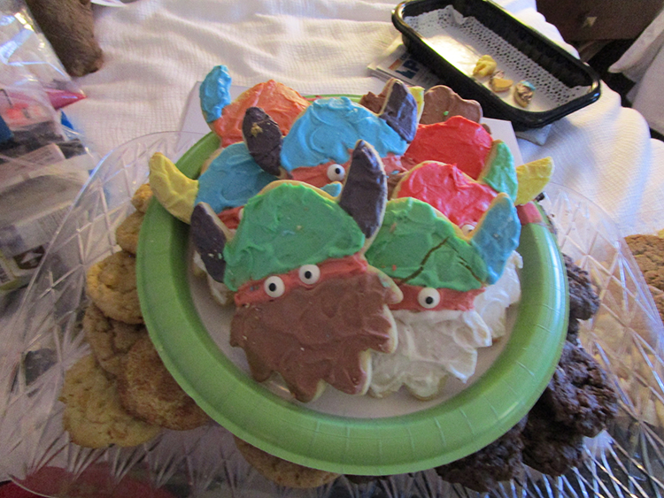 Photo: Bill Solum Viking helmet cookies were among the multitudes of baked goods delivered by the community.