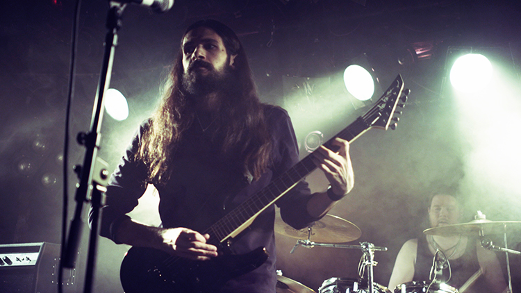 Photo courtesy of Blackhearts Sina in concert. For him, black metal is all about the music.