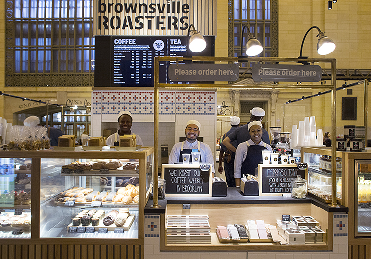 Photo: Signe Birck Brownsville Roasters in the Great Northern Food Hall serves locally roasted coffee.