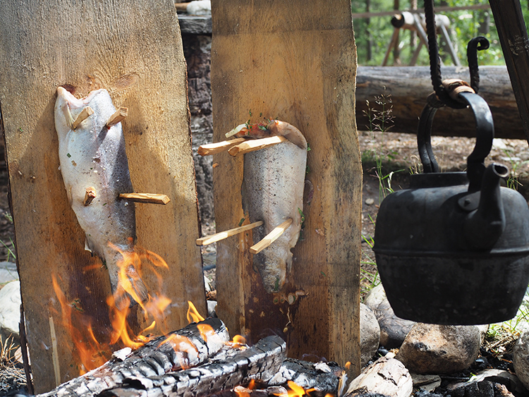 Photo Nevada Berg Use A Plank To Fire Cook Fish Just Like Your Viking