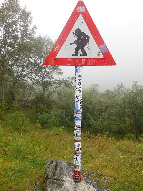 Photo: Dianne Enger Snell Beware of trolls! Sign from Trollstigen, Norway.