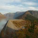 Photo courtesy of Statkraft Large dams like this one at Tunsbergdalsvatn look impressive, but today most of Norway's new projects are smaller modifications that are easier on the environment.