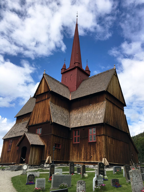 Ringbu's stave church is among the largest remaining, and to this writer's eye also among the most beautiful. Photo by Emily C. Skaftun