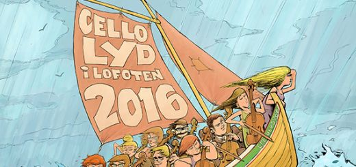 Photo illustrated by Bjarne Agdestein The festival's poster captures the windswept adventurousness of Lofoten.