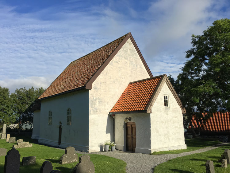 Giske Church dates back to the 12th century. Photo by David Nikel