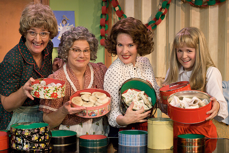 Photo courtesy of the Church Basement Ladies The ladies show off their Christmas cookies.