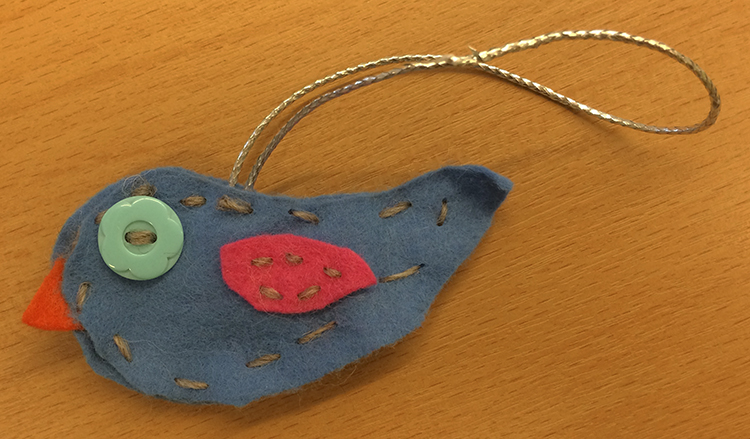 Photo: Heidi Håvan Grosch These birds will make adorable additions to your Christmas tree.