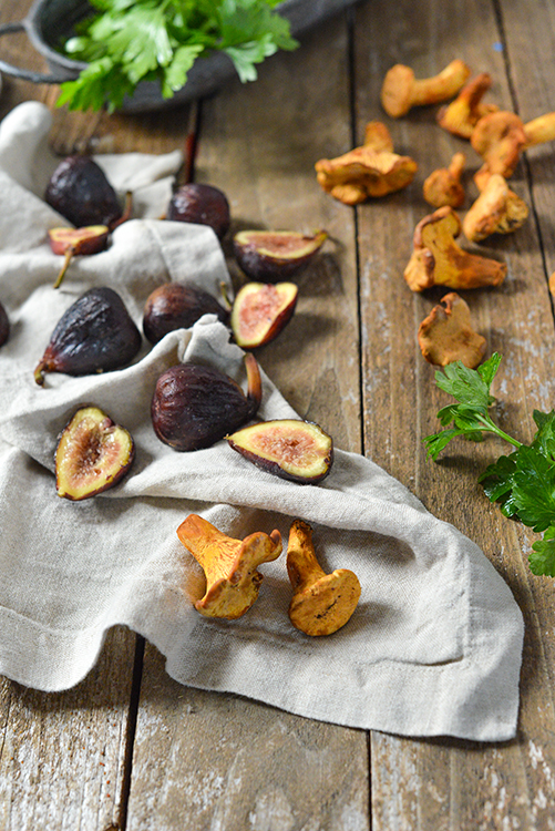 Chanterelles and figs.