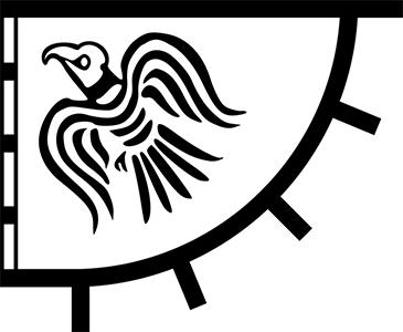 Raven flag illustration.