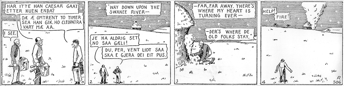 Han Ola og Han Per comic. Text below.