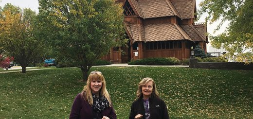 Celebration of The Twelve Days of Christmas at a N.D. stave church.