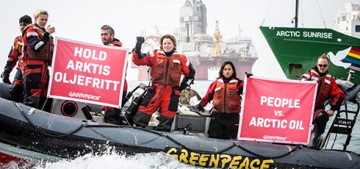 Arctic oil exploration protest