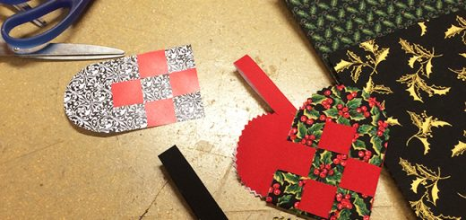 Norwegian Christmas crafts: woven hearts