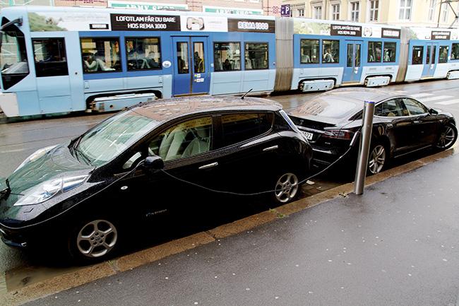 low-emission society - electric car