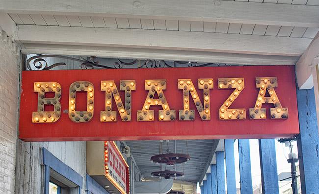 Bonanza sign