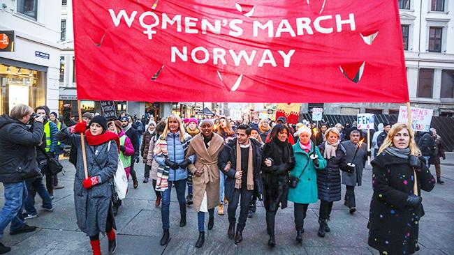 Norwegian women american men