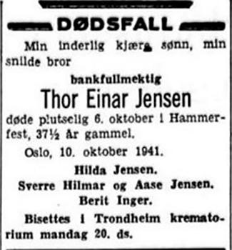 Thor Jensen obituary