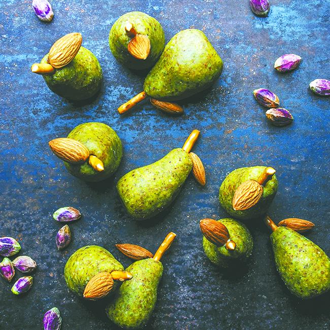 Bakeland: Pistachio Marzipan Pears