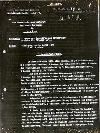 Randi Millman-Brown - photocopy of German file from 1941
