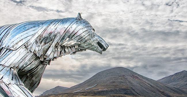Longyearbyen - silver bear