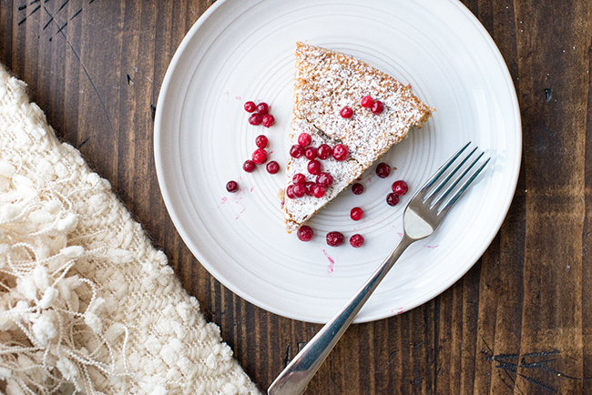 Almond Lingonberry Cake