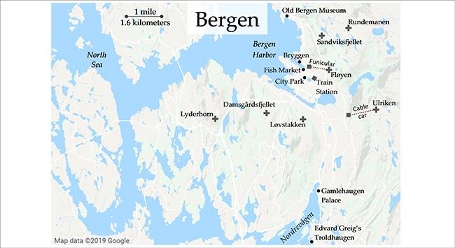 seven peaks of Bergen